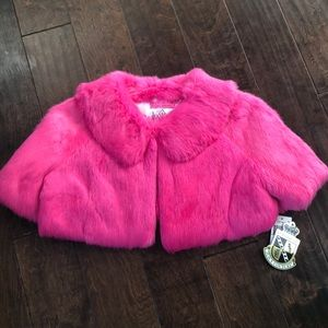 Juicy Couture Girls faux fur shawl
